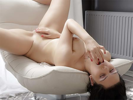 Huge-chested Solo Teenager
