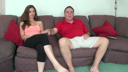 Lovely Splendorous Tits Teenager Watching Television With Not His Dad